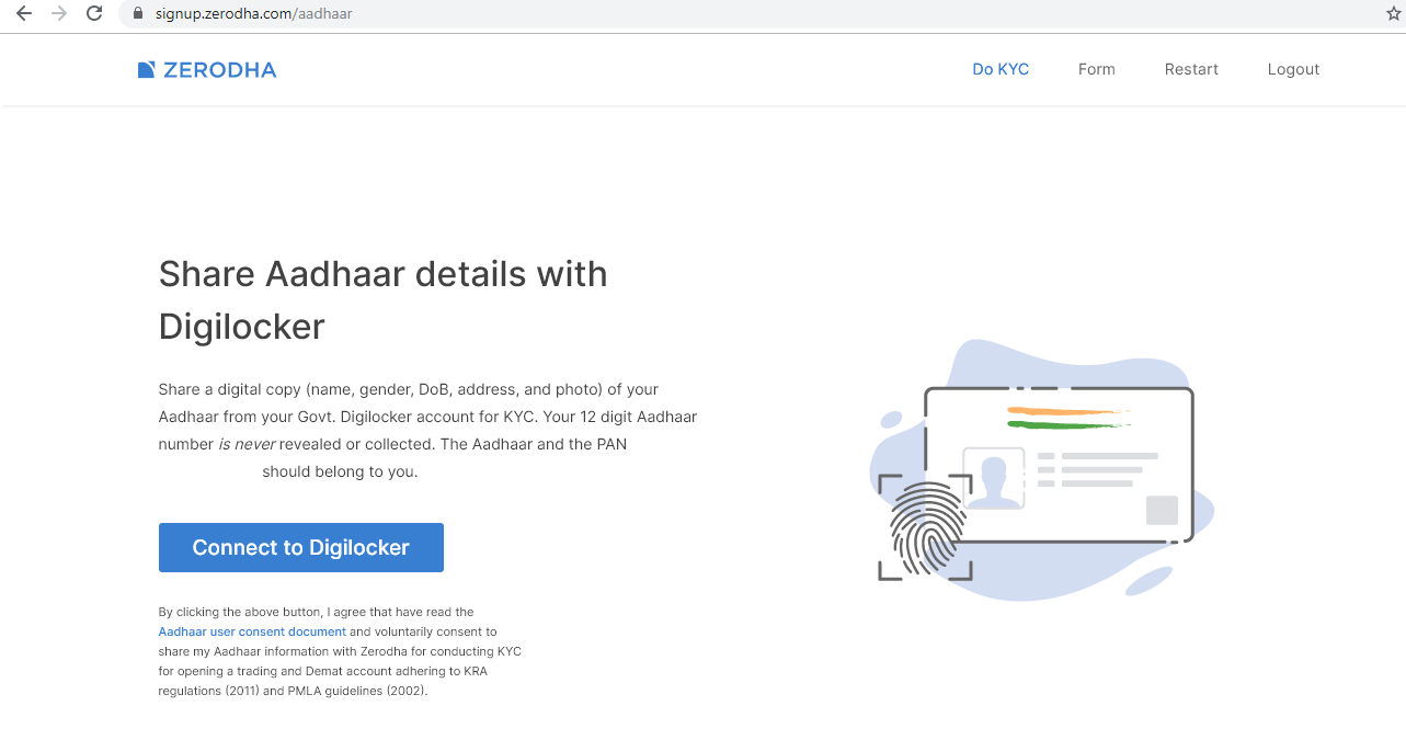 How to use digilocker for zerodha